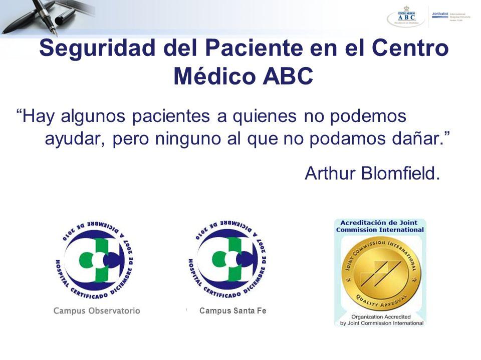 Seguridad del Paciente en el Centro Médico ABC