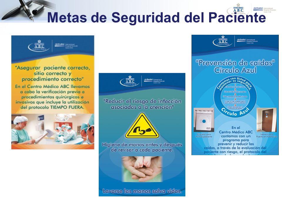 Metas de Seguridad del Paciente