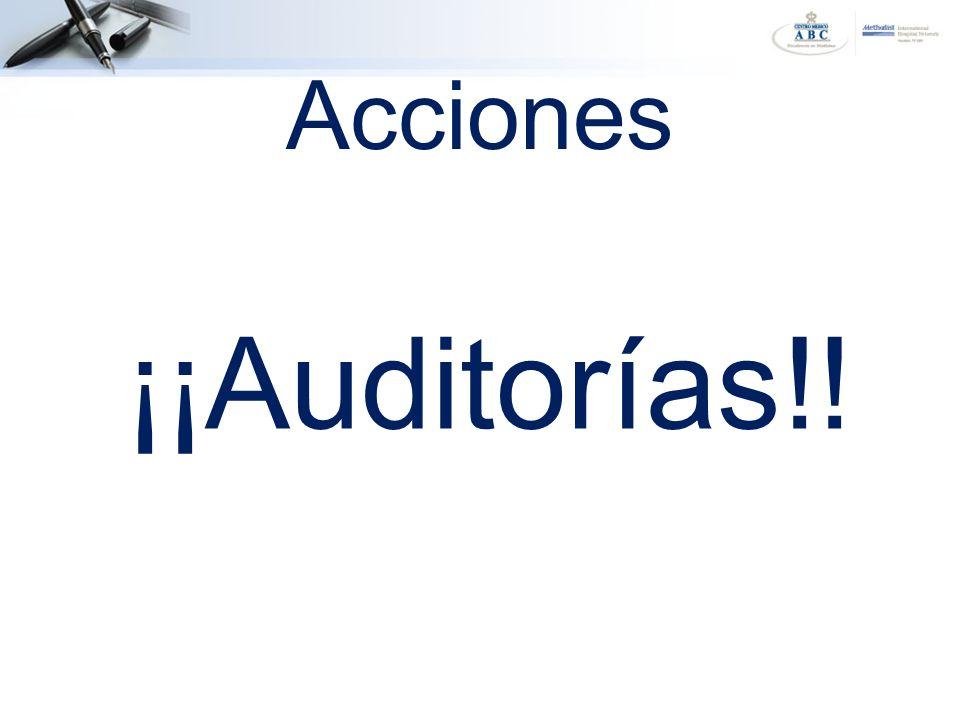 Acciones ¡¡Auditorías!!