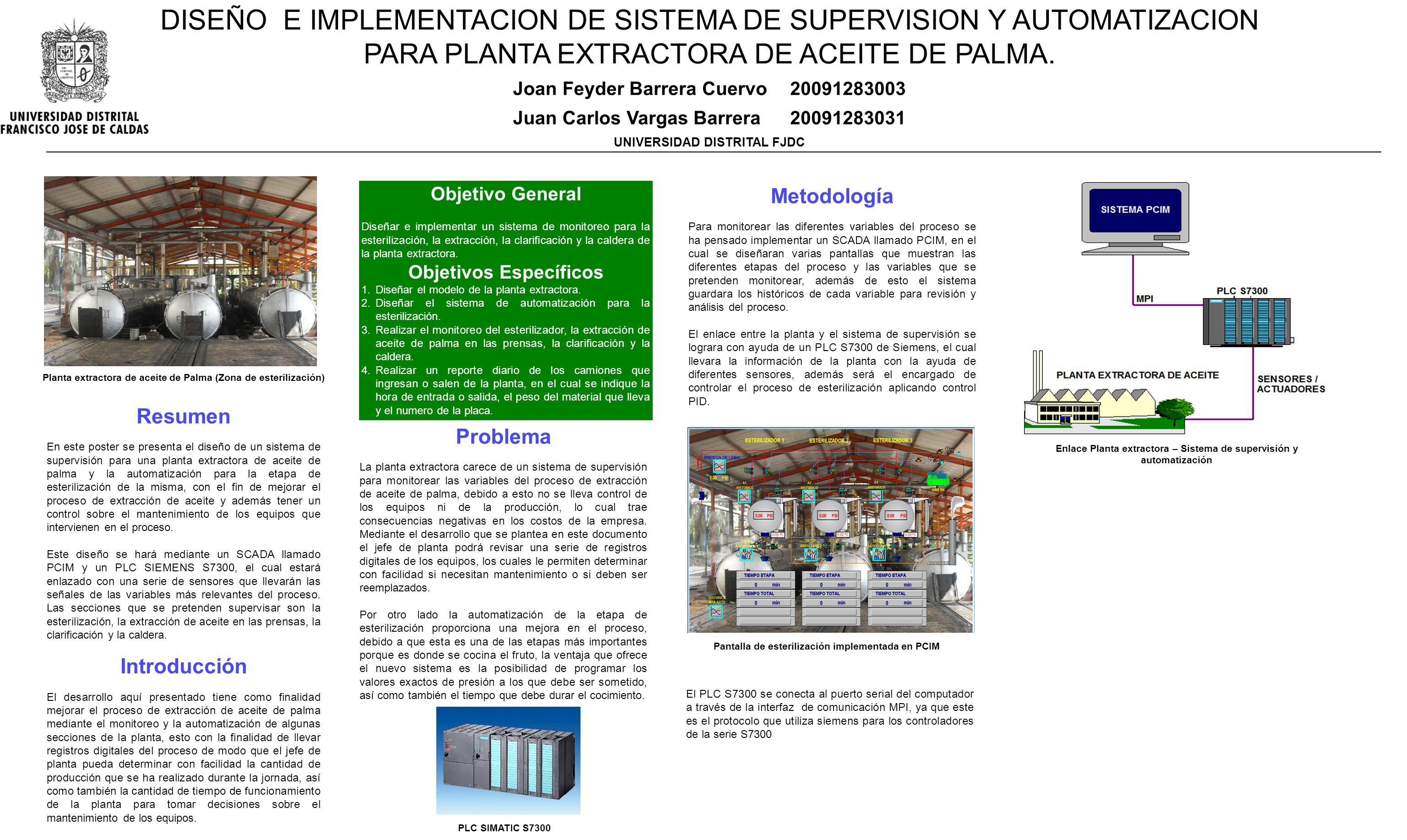 DISEÑO E IMPLEMENTACION DE SISTEMA DE SUPERVISION Y AUTOMATIZACION