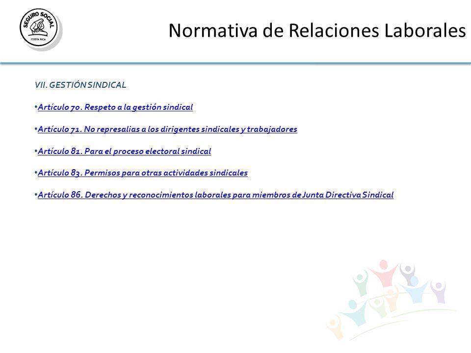 Normativa de Relaciones Laborales