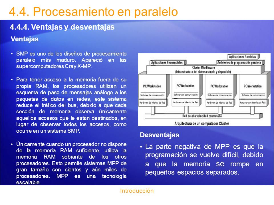 4.4. Procesamiento en paralelo