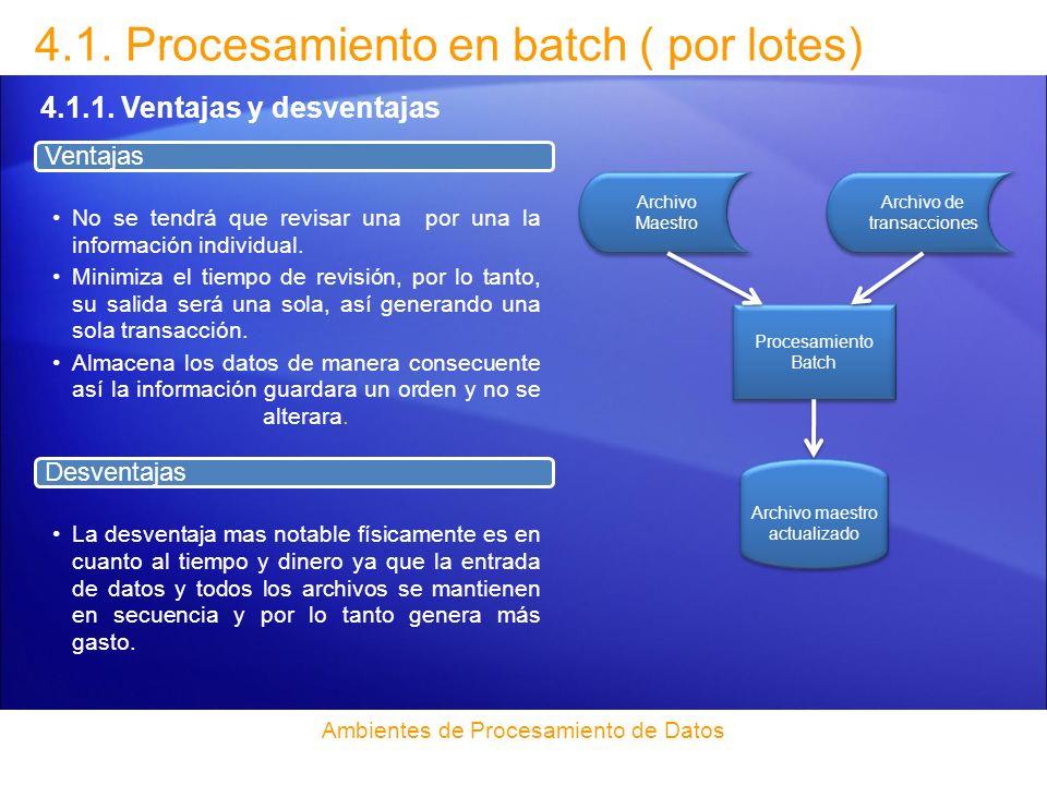 4.1. Procesamiento en batch ( por lotes)