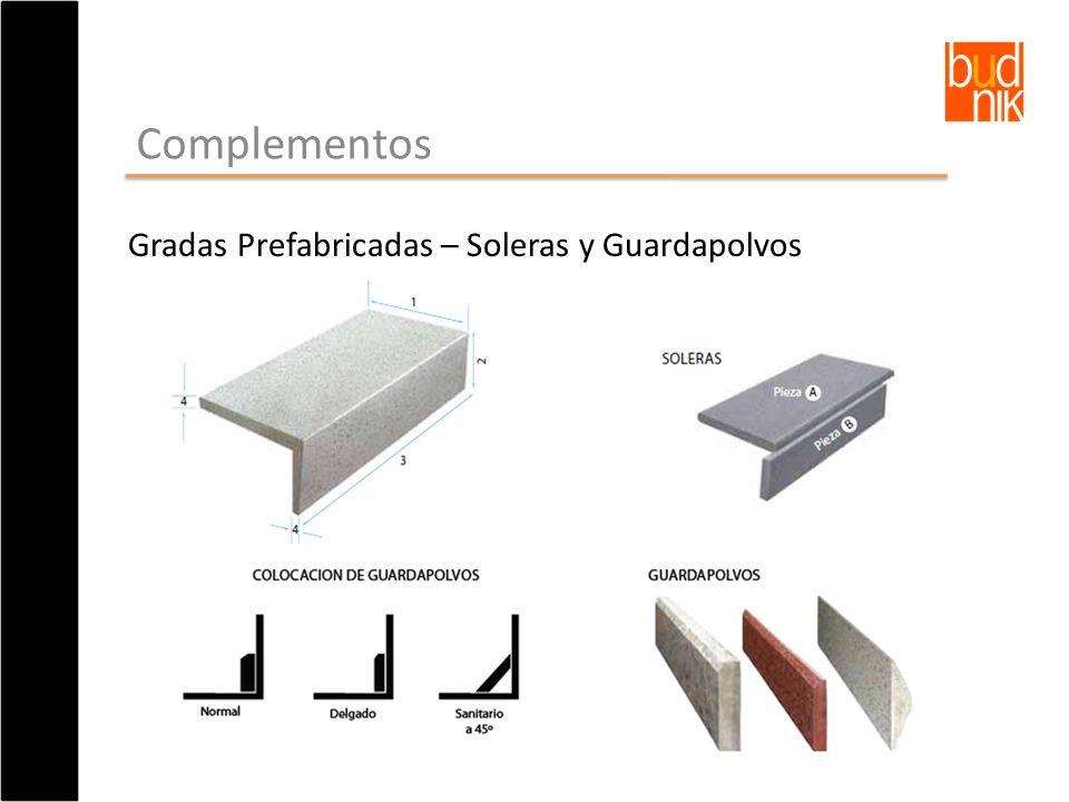 Complementos Gradas Prefabricadas – Soleras y Guardapolvos
