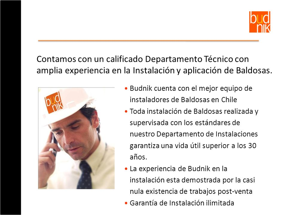 Contamos con un calificado Departamento Técnico con amplia experiencia en la Instalación y aplicación de Baldosas.