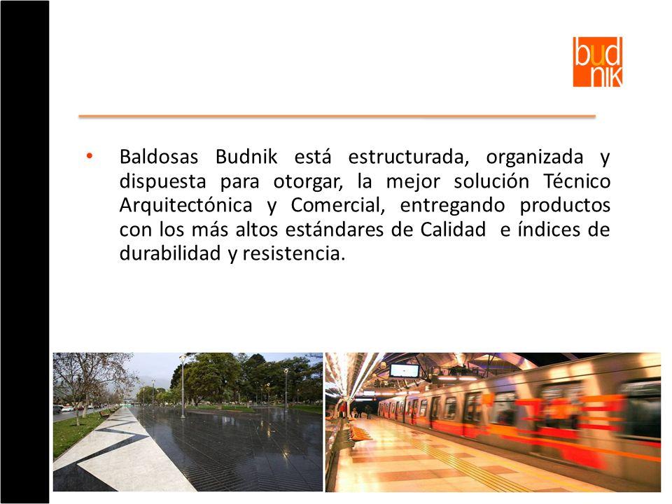 Baldosas Budnik está estructurada, organizada y dispuesta para otorgar, la mejor solución Técnico Arquitectónica y Comercial, entregando productos con los más altos estándares de Calidad e índices de durabilidad y resistencia.