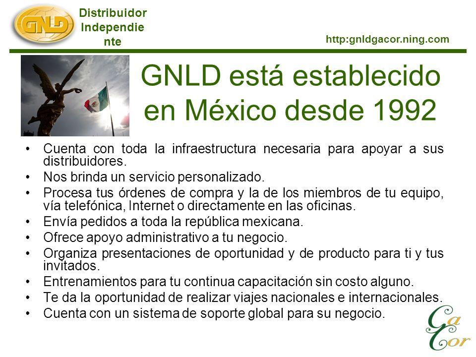 GNLD está establecido en México desde 1992