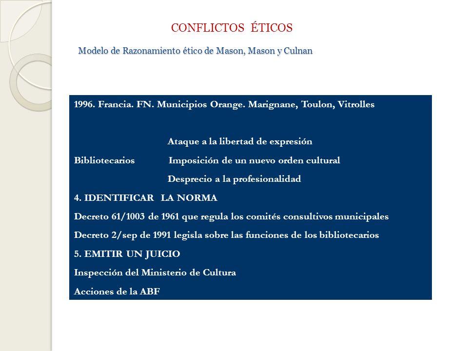 Modelo de Razonamiento ético de Mason, Mason y Culnan