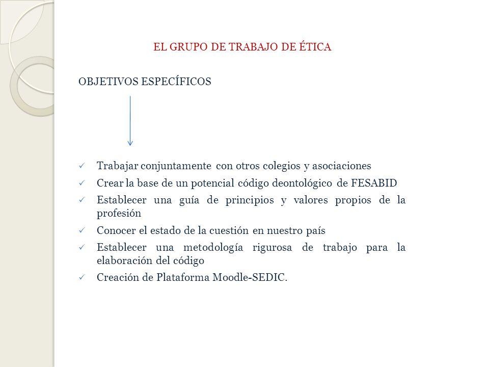 EL GRUPO DE TRABAJO DE ÉTICA