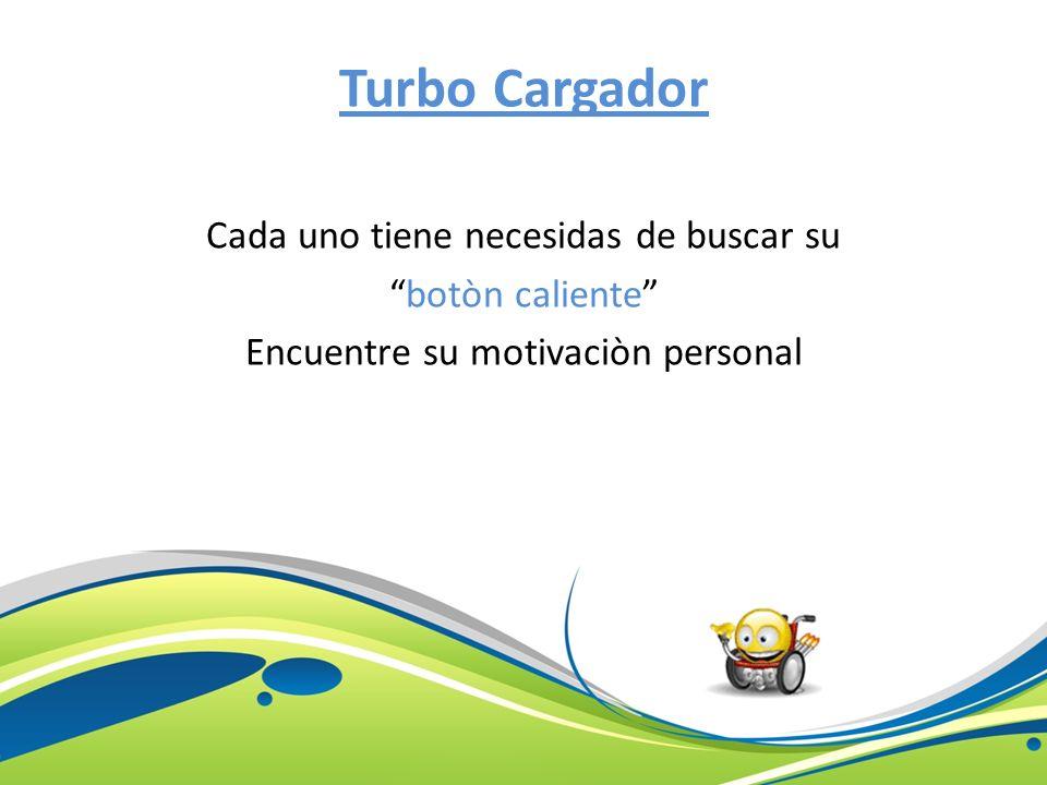 Turbo Cargador Cada uno tiene necesidas de buscar su botòn caliente