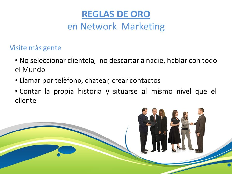 REGLAS DE ORO en Network Marketing
