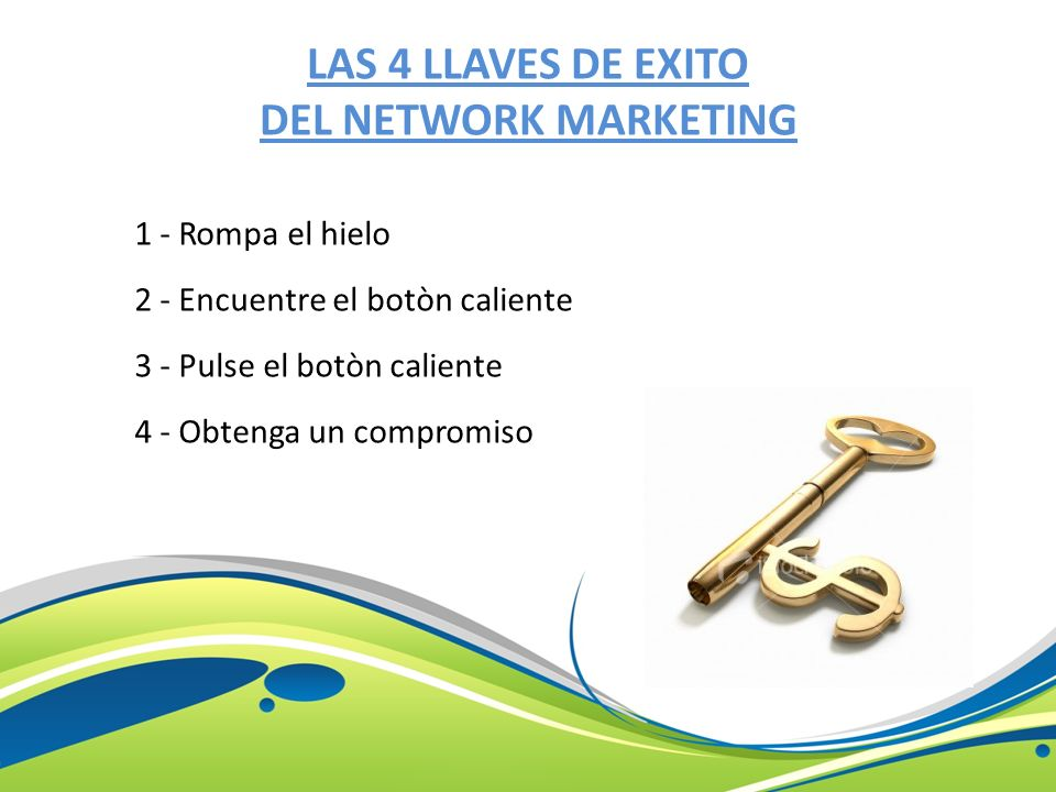 LAS 4 LLAVES DE EXITO DEL NETWORK MARKETING