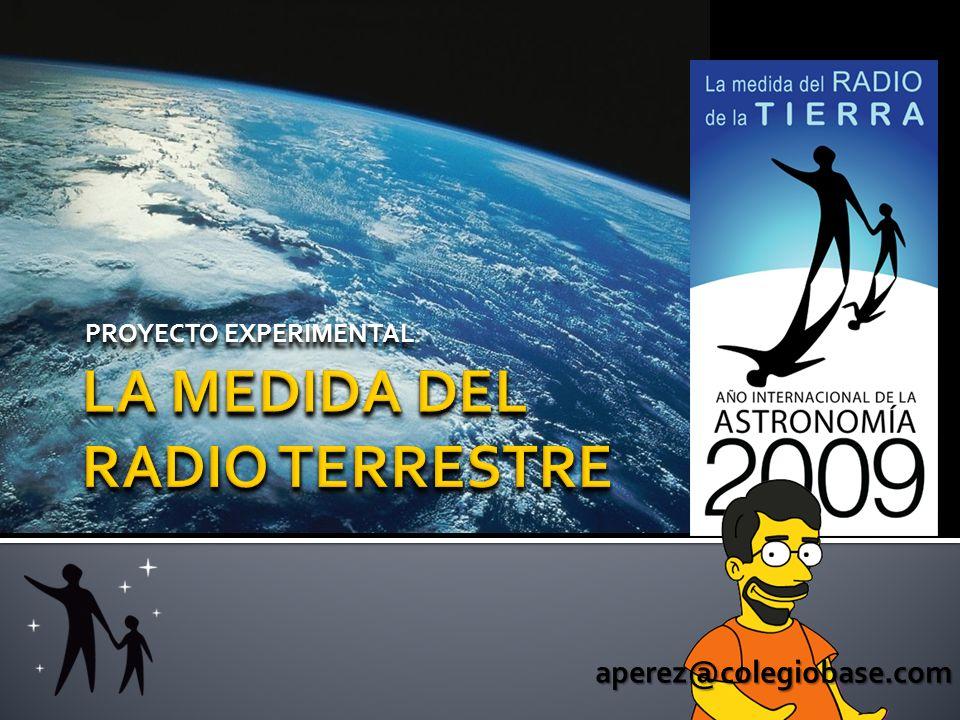 LA MEDIDA DEL RADIO TERRESTRE