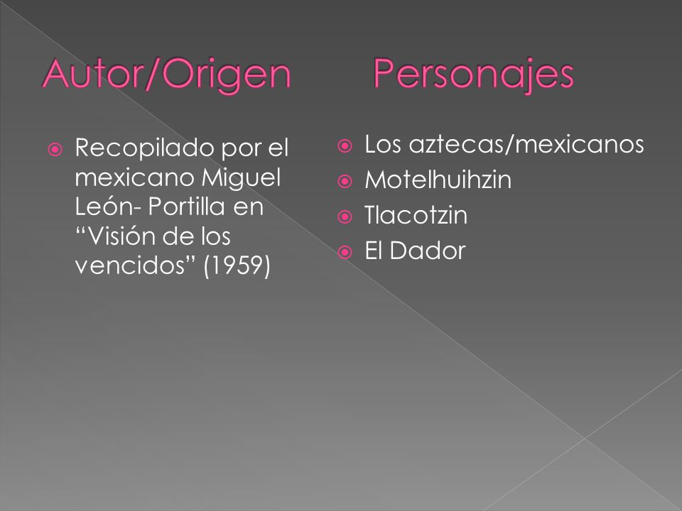 Autor/Origen Personajes