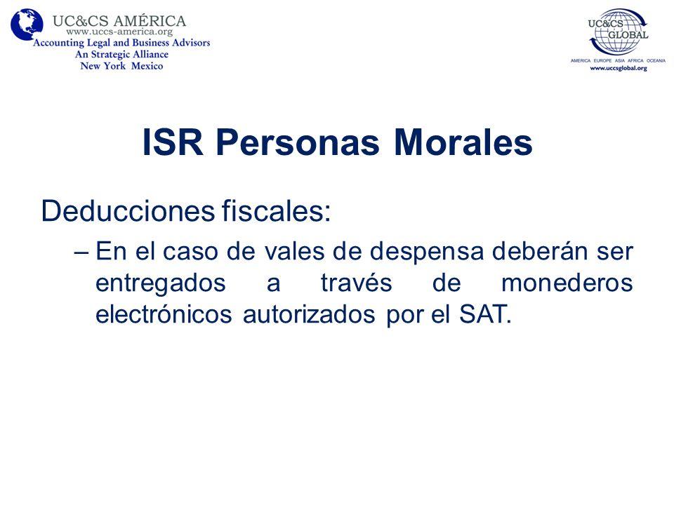 ISR Personas Morales Deducciones fiscales: