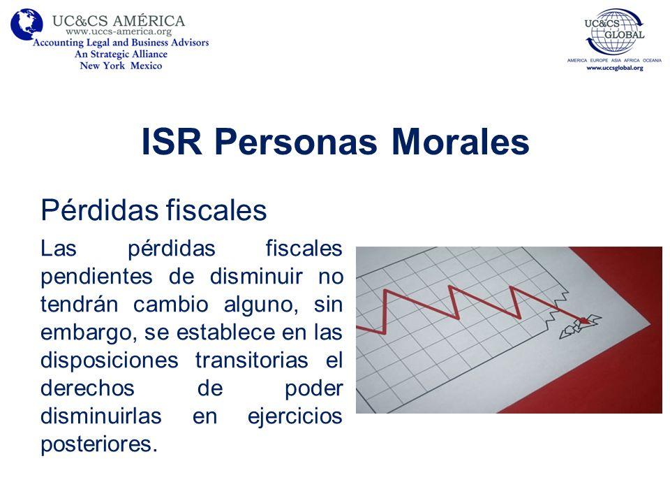 ISR Personas Morales Pérdidas fiscales