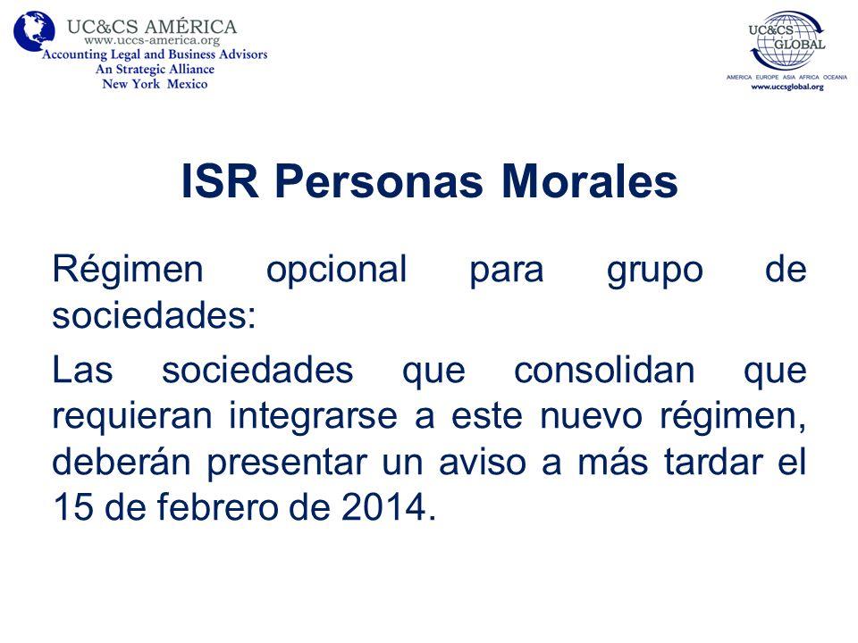 ISR Personas Morales