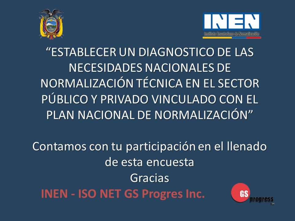 INEN - ISO NET GS Progres Inc.