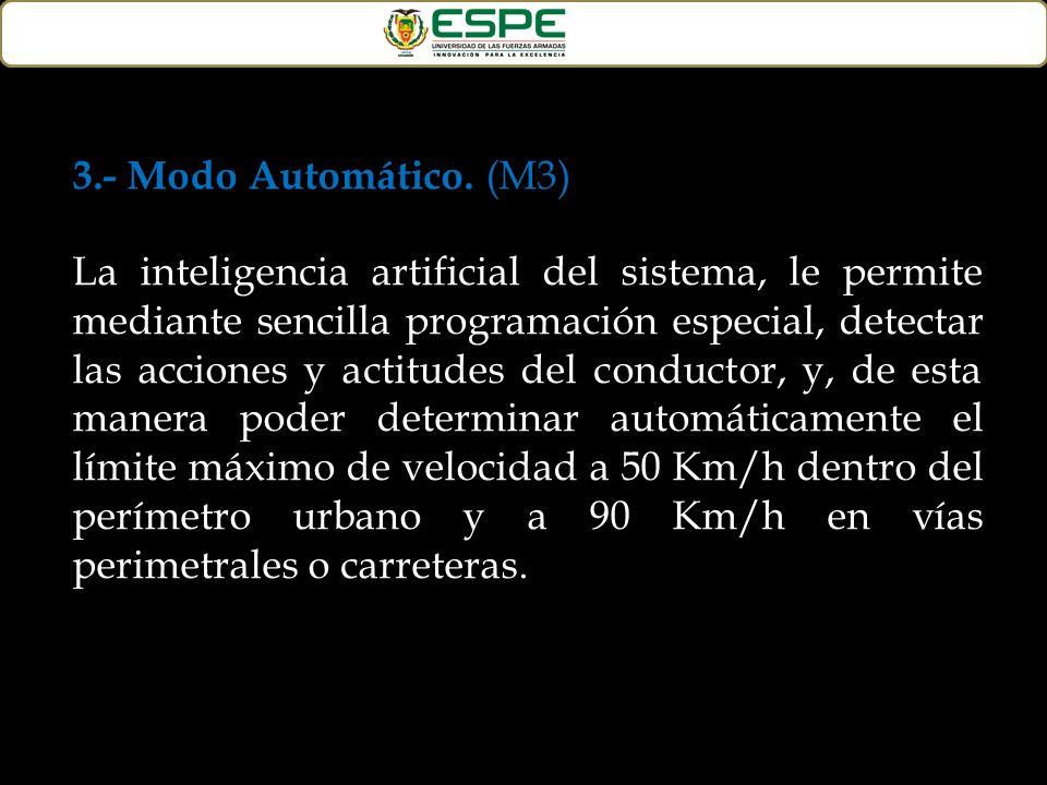 3.- Modo Automático. (M3)