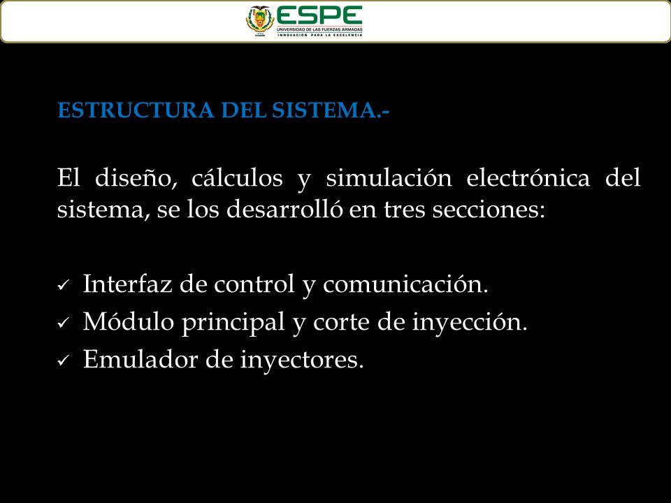 Interfaz de control y comunicación.