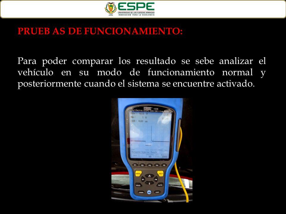 PRUEB AS DE FUNCIONAMIENTO: