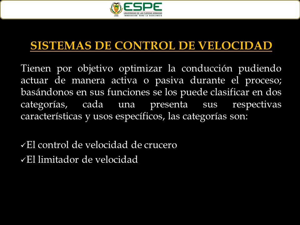SISTEMAS DE CONTROL DE VELOCIDAD