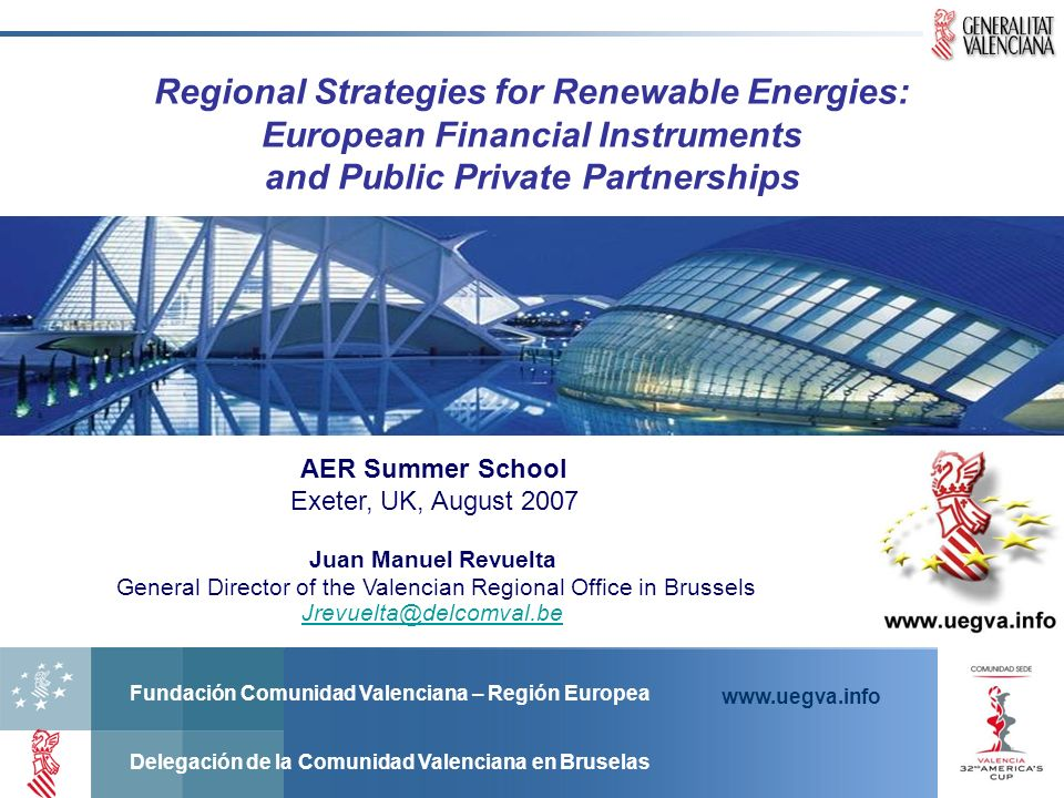 Regional Strategies for Renewable Energies: