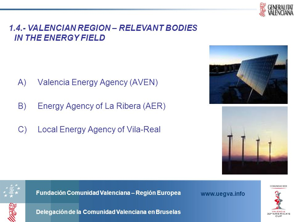 4.- VALENCIAN REGION – RELEVANT BODIES IN THE ENERGY FIELD