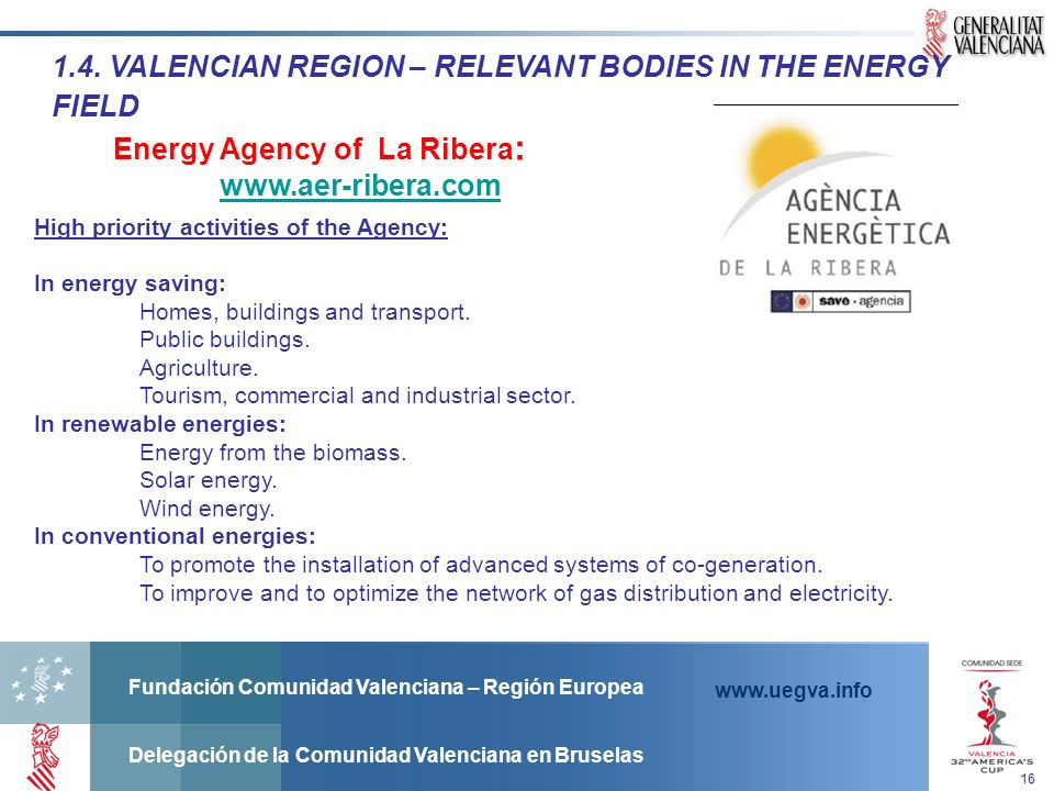 1.4. VALENCIAN REGION – RELEVANT BODIES IN THE ENERGY FIELD
