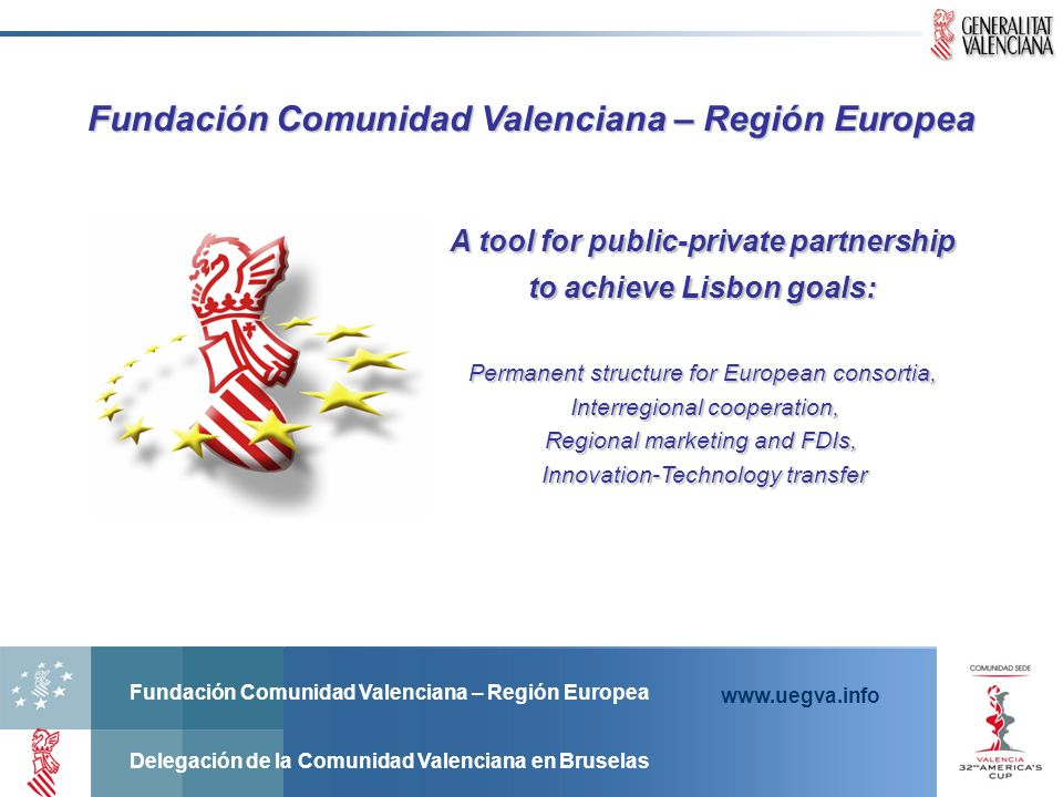 Fundación Comunidad Valenciana – Región Europea