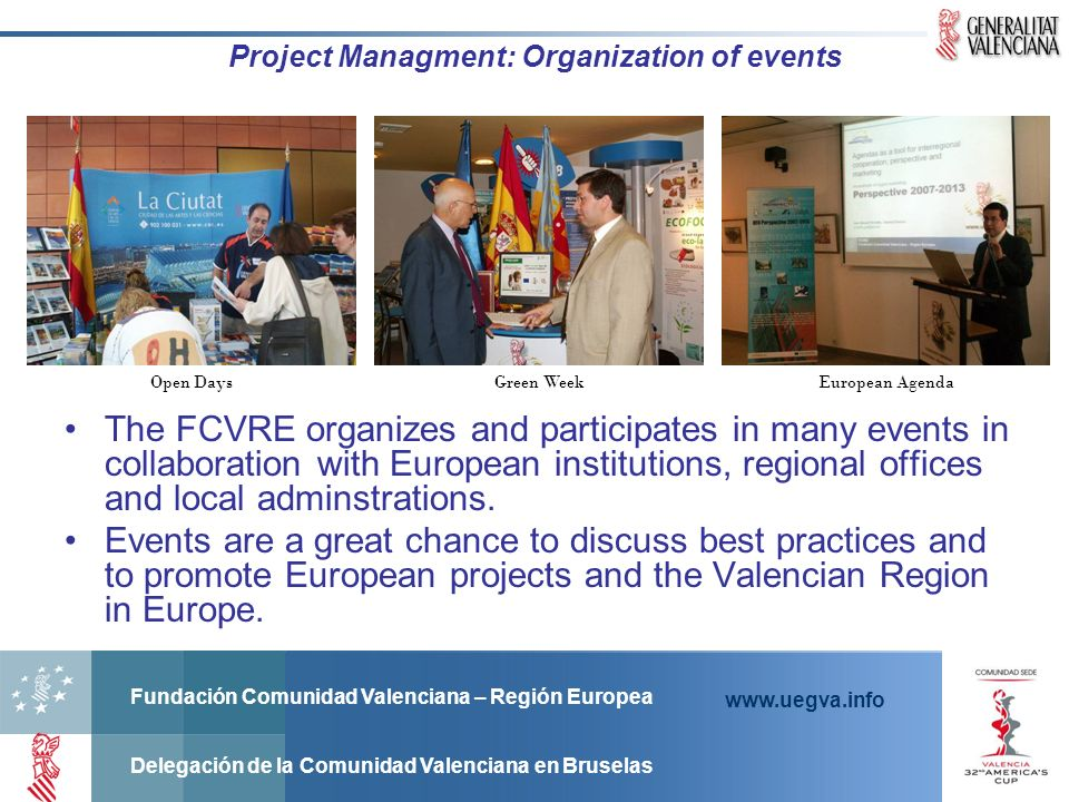 Project Managment: Organization of events