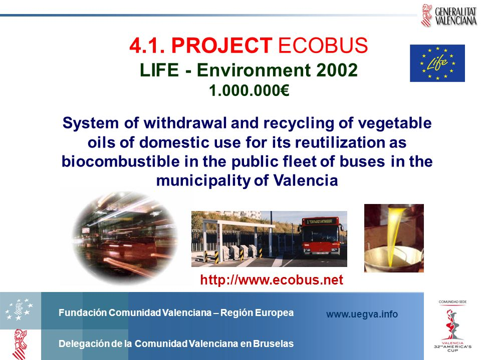 4.1. PROJECT ECOBUS LIFE - Environment 2002 1.000.000€