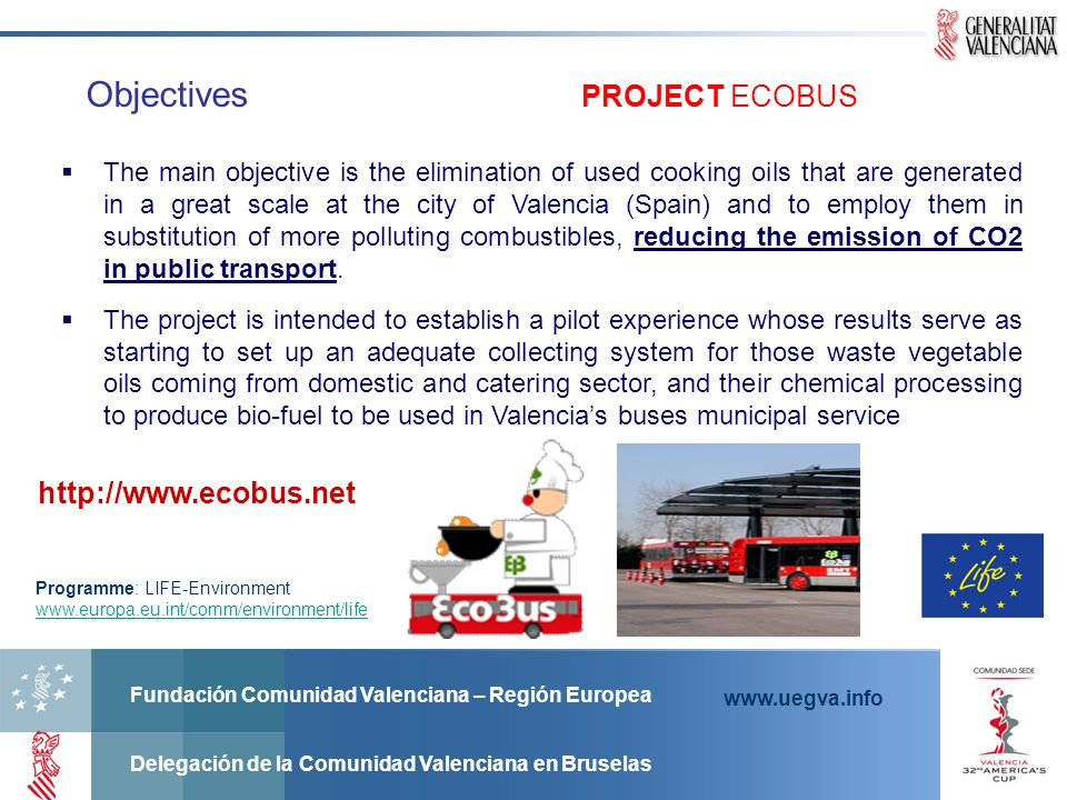 Objectives PROJECT ECOBUS http://www.ecobus.net