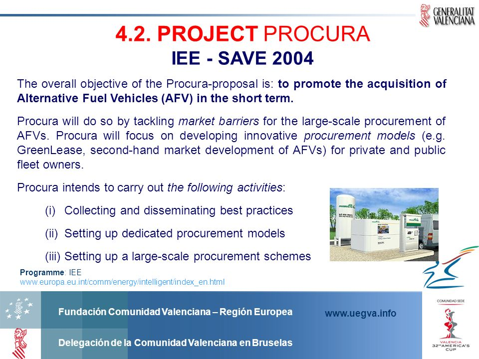 4.2. PROJECT PROCURA IEE - SAVE 2004