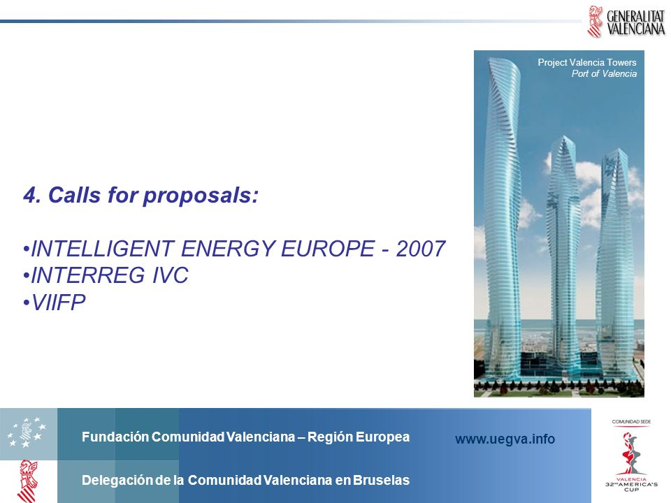 INTELLIGENT ENERGY EUROPE - 2007 INTERREG IVC VIIFP