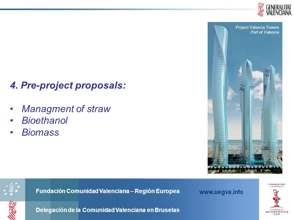 4. Pre-project proposals: Managment of straw Bioethanol Biomass