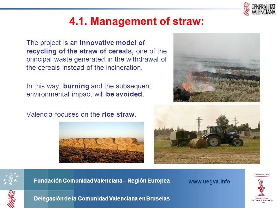 4.1. Management of straw: