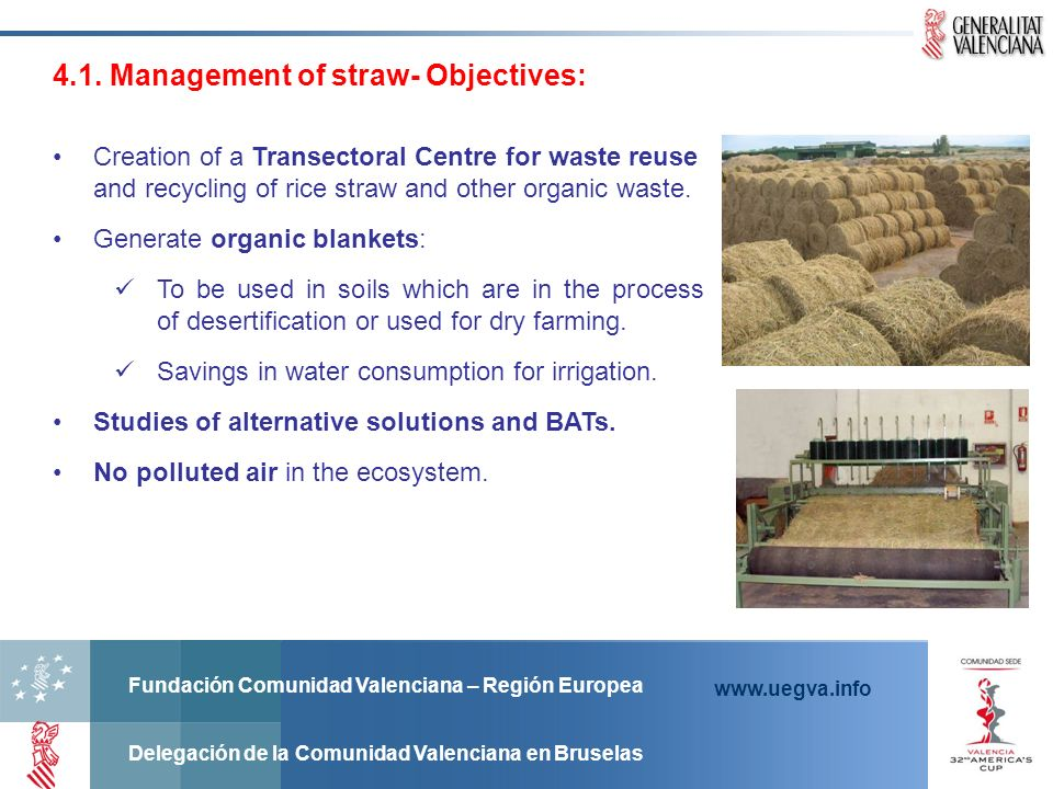 4.1. Management of straw- Objectives: