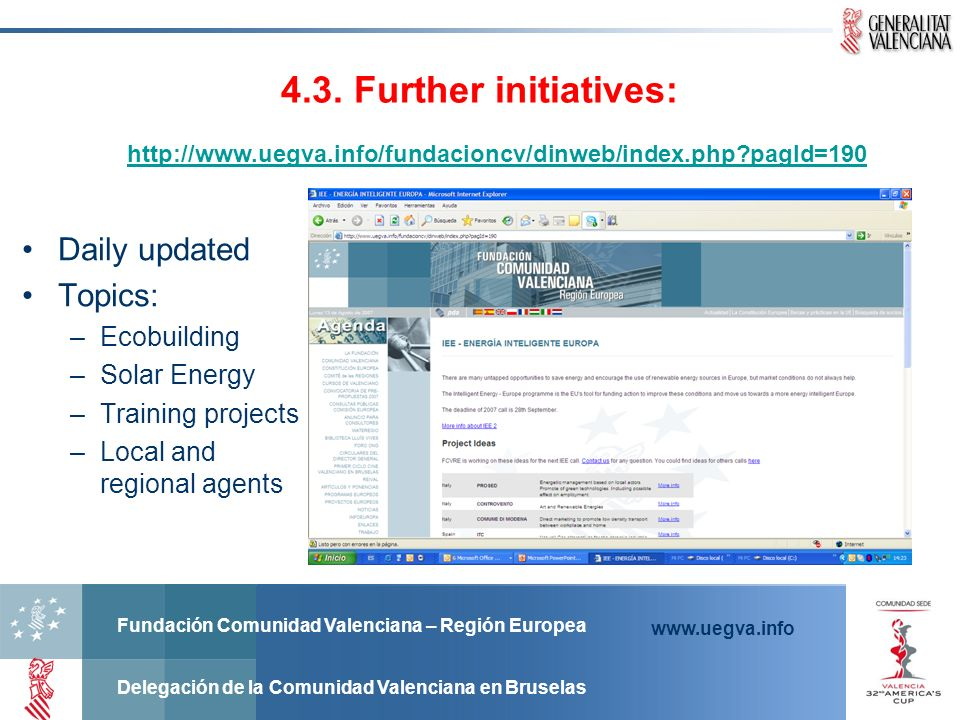 4.3. Further initiatives: Daily updated Topics: Ecobuilding