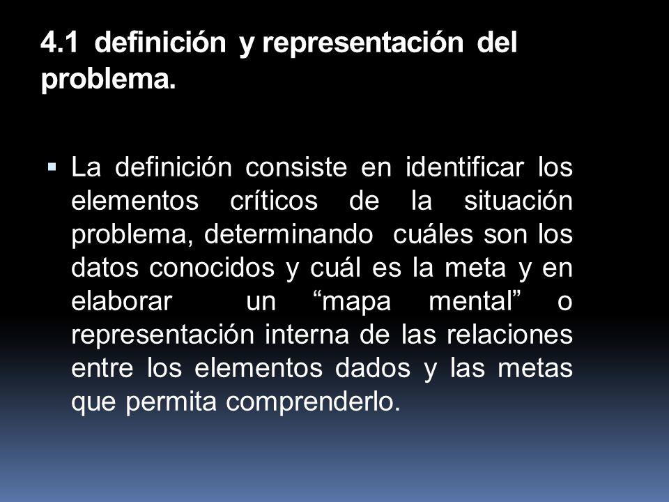 4.1 definición y representación del problema.