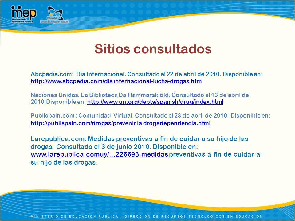 Sitios consultados