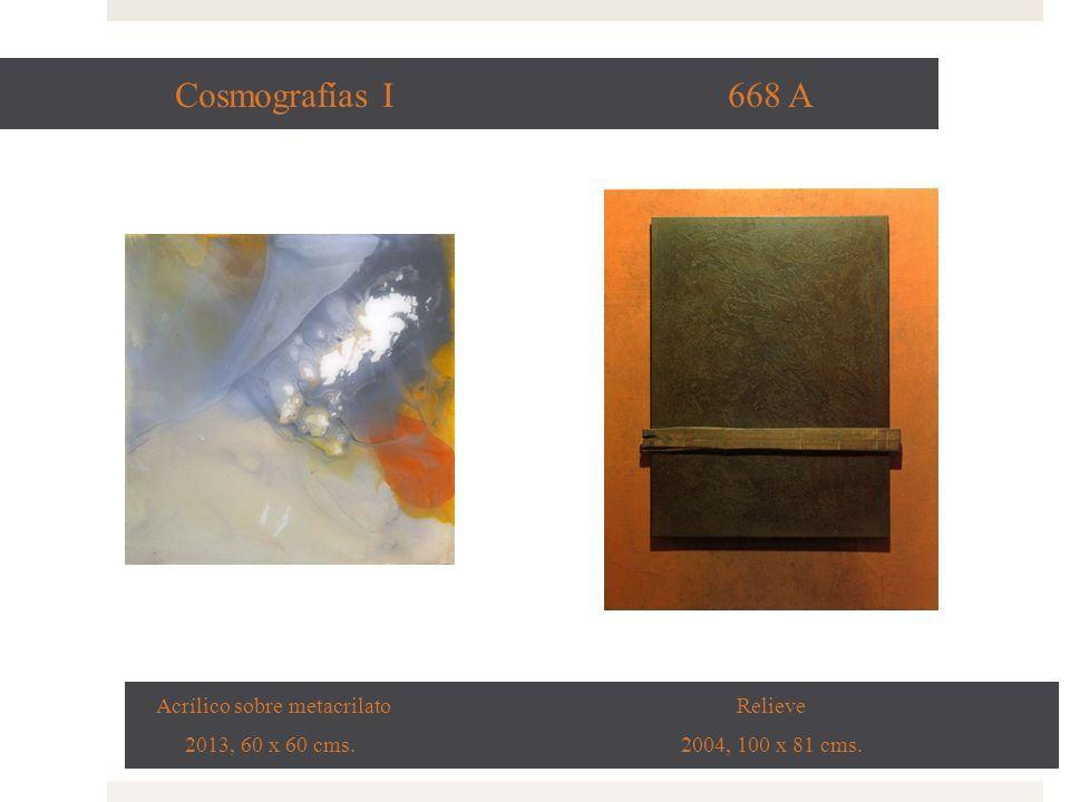 Cosmografías I 668 A Acrílico sobre metacrilato Relieve