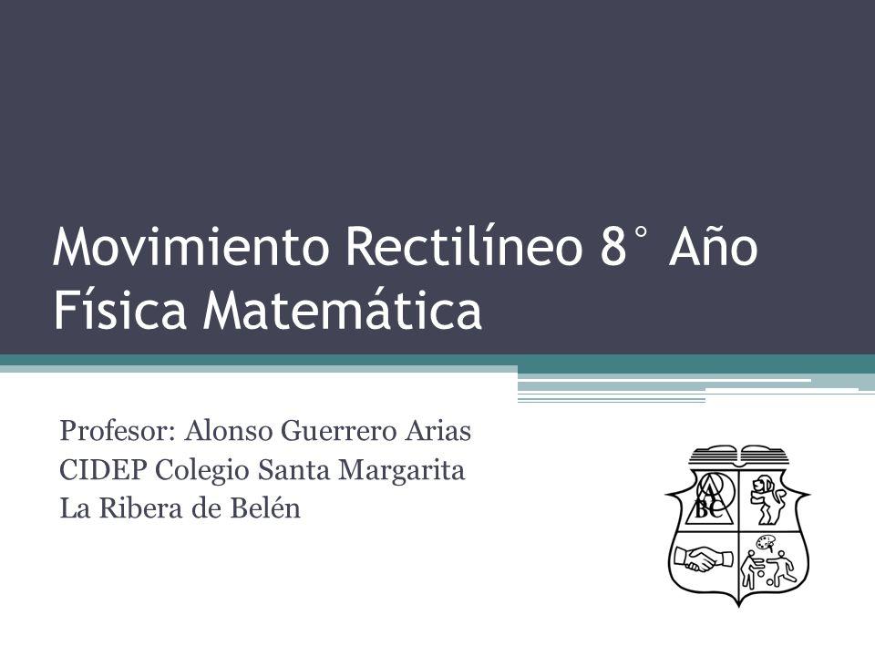 Movimiento Rectilíneo 8° Año Física Matemática