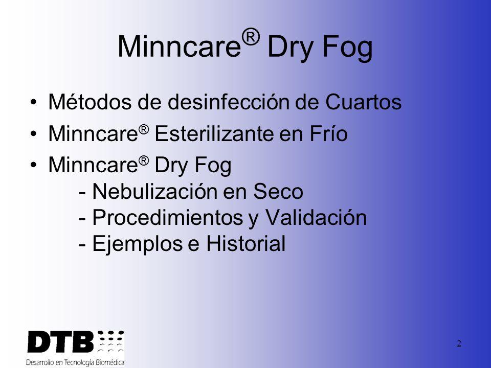 Minncare® Dry Fog Métodos de desinfección de Cuartos
