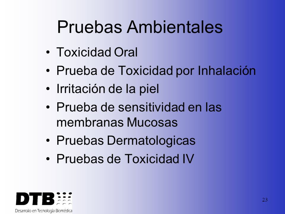 Pruebas Ambientales Toxicidad Oral Prueba de Toxicidad por Inhalación