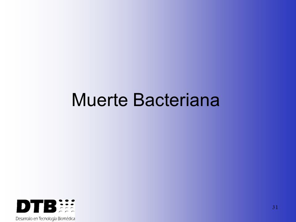 Muerte Bacteriana