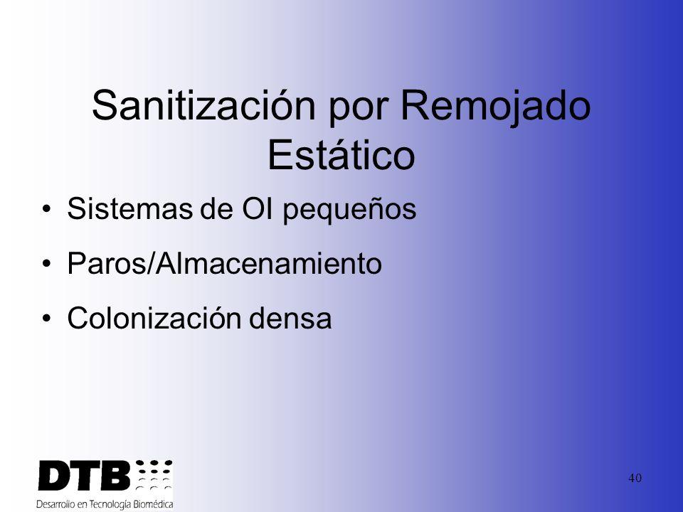 Sanitización por Remojado Estático
