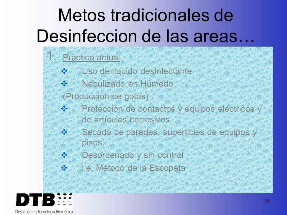 Metos tradicionales de Desinfeccion de las areas…