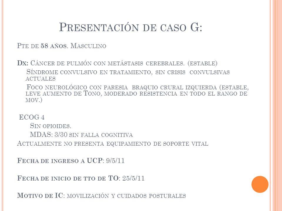 Presentación de caso G: