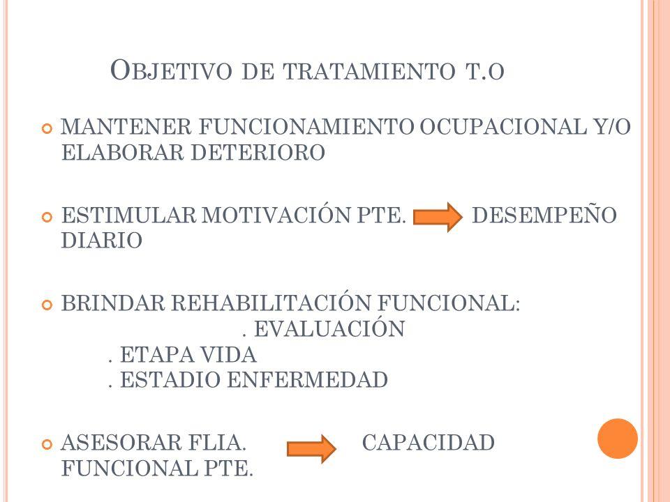 Objetivo de tratamiento t.o